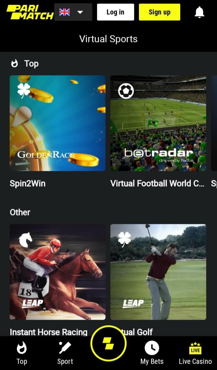 Virtual Sports at Parimatch