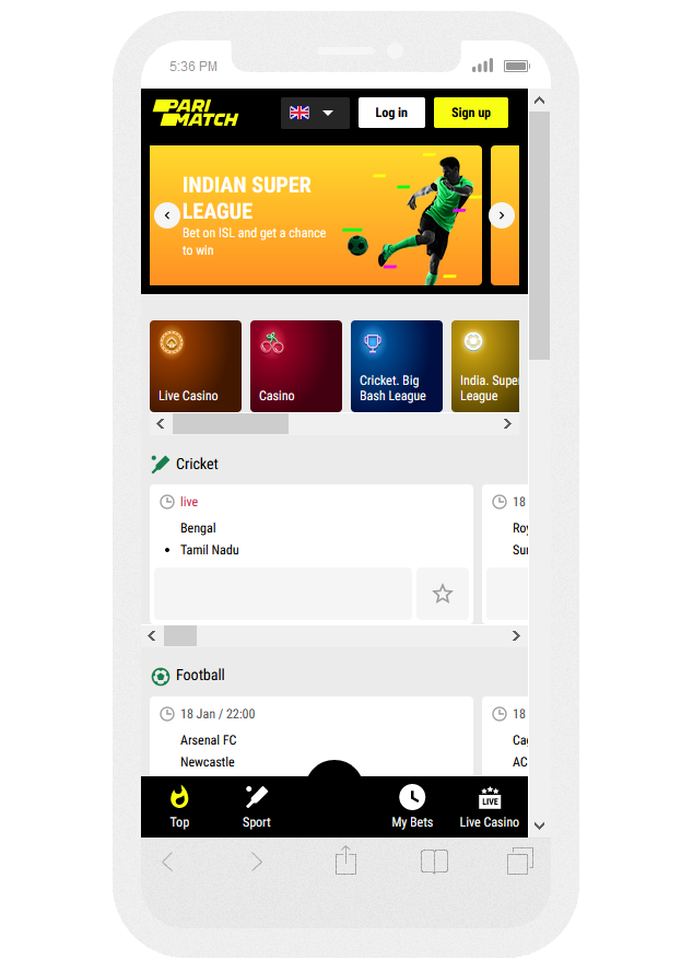 Parimatch iOS App